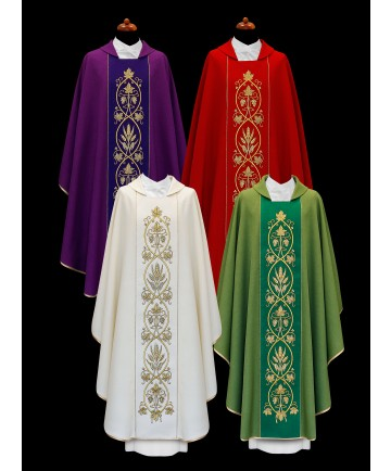 Chasuble by Alba with Embroidered Panel