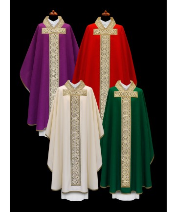 Chasuble by Alba with Embroidered Gold Panel