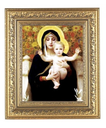 Madonna of the Flowers Framed Picture