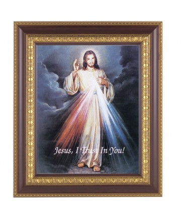 """Divine Mercy Framed Picture 11"""" x 13"""""""