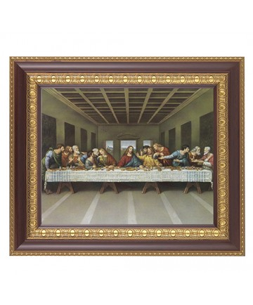 """Last Supper Framed Picture 11"""" x 13"""""""
