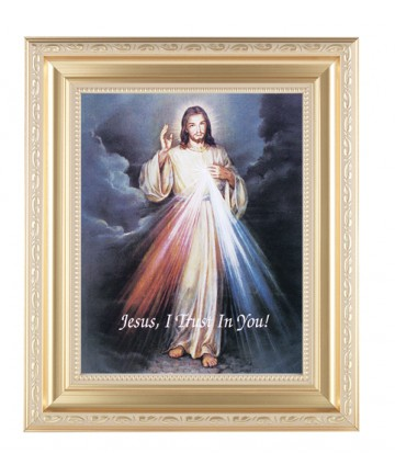 """Divine Mercy Framed Picture 11.5"""" x 13.5"""""""