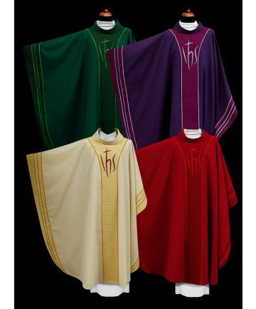 Chasuble by Alba with IHS Embroidery