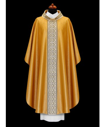 Chasuble by Alba Gold with Gold Embroidered Panel
