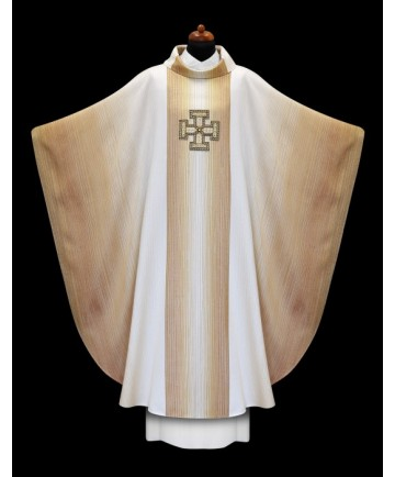 Chasuble by Alba Hand Made with Embroidered Jerusalem Cross