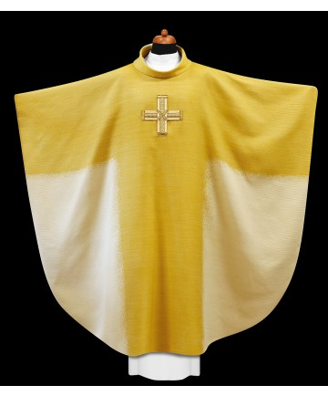 Chasuble by Alba Hand Made with Embroidered Cross