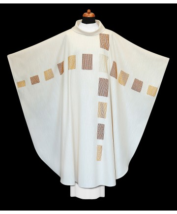 Chasuble by Alba Hand Made White with Embroidery