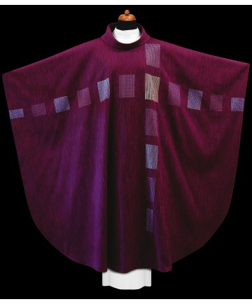 Chasuble by Alba Hand Made Purple with Embroidery