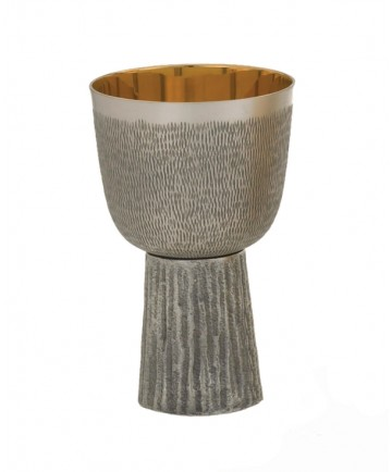 Communion Cup Oxidized - Gold Lined 7oz