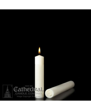 """1-1/2"""" x 5-1/2"""" Altar 51% Beeswax Plain End Candles for Tubes"""