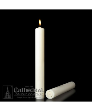 """1-1/2"""" x 12"""" Altar 51% Beeswax All Purpose End Candles"""