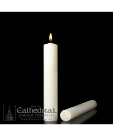 """2 1/2"""" x 9"""" Altar 51% Beeswax All Purpose End Candles"""