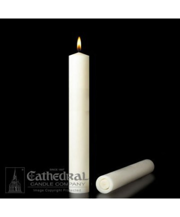 """2 1/2"""" x 12"""" Altar 51% Beeswax All Purpose End Candles"""