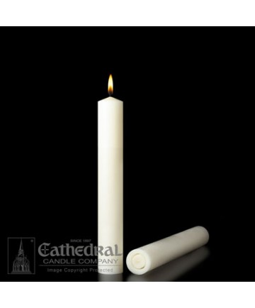 """1-3/4"""" x 9"""" Altar 51% Beeswax All Purpose End Candles"""