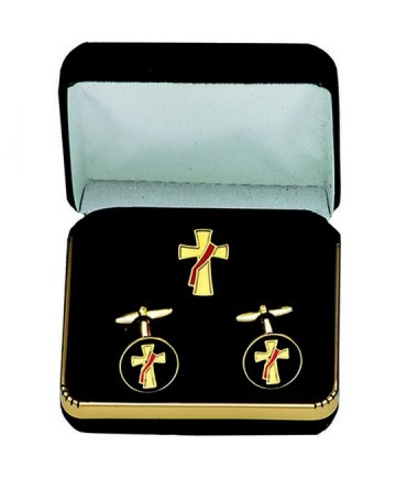 Cuff Links and Pin Set for Deacon
