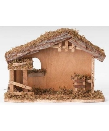 """Fontanini Wooden Nativity Stable for 5"""" Figures - 10.5""""H"""