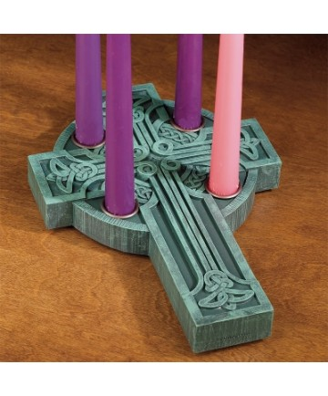 Celtic Cross Advent Wreath Candleholder