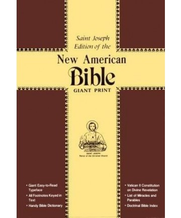 NABRE St Joseph Red Cloth Cover Giant Type Edition