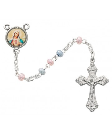 3 mm Glass Imitation Pearl Beads Rosary