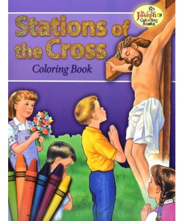 Stations of the Cross St Joseph Coloring Book