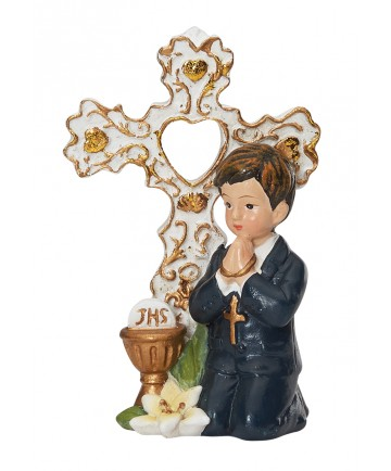 First Communion Cake Topper or Statue - Boy 3""