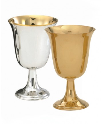 "Communion Cup Silver or Gold Plated 11oz 5-34/""H"