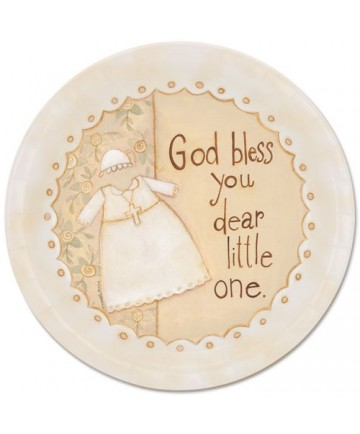 Paper Plates: God Bless Dear Little One