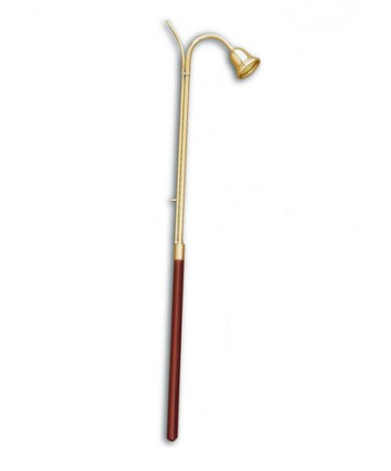 """Brass 36"""" Candle Lighter and Snuffer with dark wood handle"""