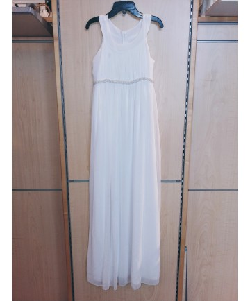 Communion Dress with Beaded Belt (Size 10)
