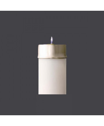"""Brass Follower for 3-1/2"""" Candle Shell"""