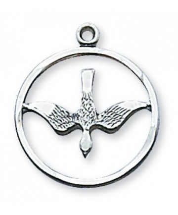 """Sterling Silver Holy Spirit Pendan on 18"""" Chain"""