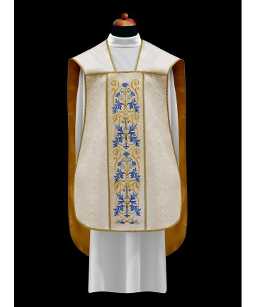Chasuble by Alba White with Embroidery on Velvet Panels