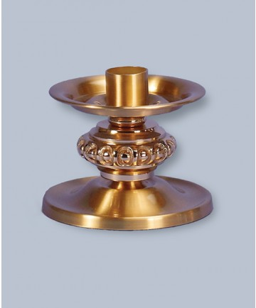 "Regal Altar Candlestick with 1.5"" Socket, 4""H, 5-5/8"" Dia Base"