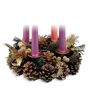 Pine Cone Advent Wreath Candleholder