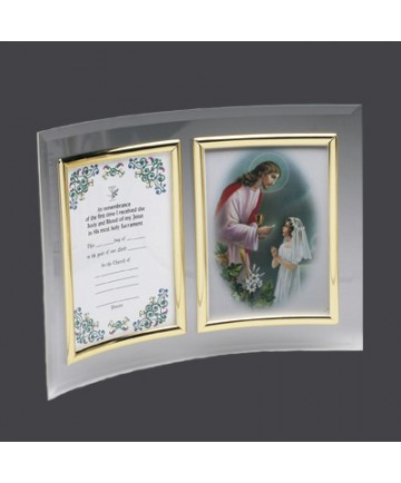 First Communion Certificate Frame for Girls