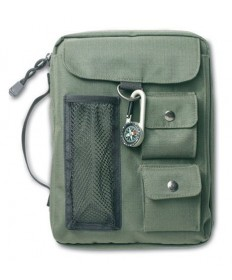 Compass Olive Green Bible Cover - Medium