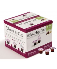 ∗Fellowship Cup - Prefilled Juice & Wafer Cups - 100 Count Box