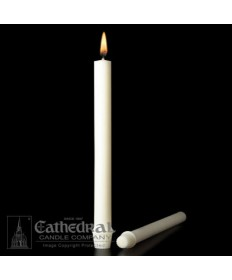 "1 1/8"" x 15"" Altar 51% Beeswax Candles Self-Fitting End (Special 2)"