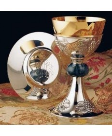 All Sterling Silver Chalice and Dish Paten 15oz