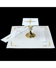 Mass Linen Set by Alba Studio with Gold Embroidery