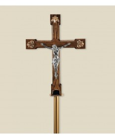 Processional Crucifix with Wooden Cross