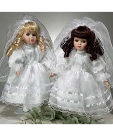 First Communion Porcelain Doll 12""