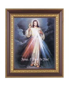 "Divine Mercy Framed Picture 11"" x 13"""