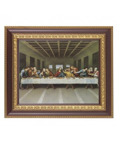 "Last Supper Framed Picture 11"" x 13"""