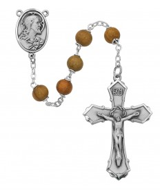 6 mm Olive Wood Beads Rosary