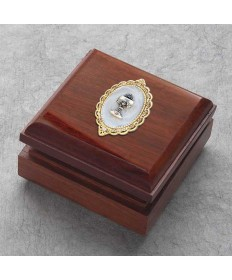 First Communion Keepsake or Rosary Box - Genuine Redwood