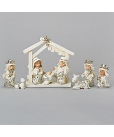 Nativity with Stable 6.5""
