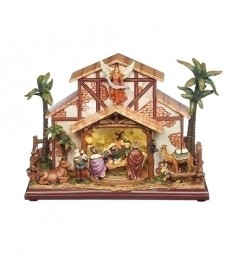 "Musical LED Nativity 9.5""H"