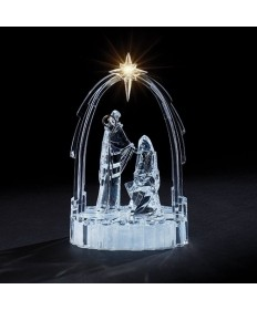 "Nativity in the Arch with LED Star 11""H"