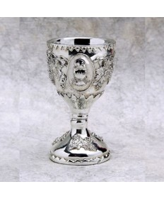 Silver Plated Resin Chalice Cake Topper